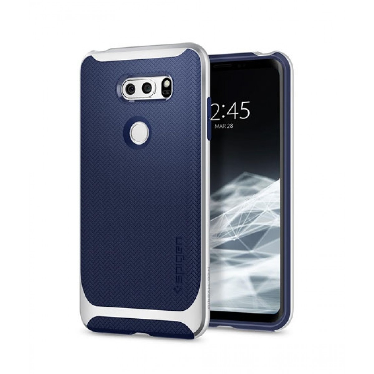 official photos 5962a 7e0ba Spigen Neo Hybrid Satin Silver Case For LG V30