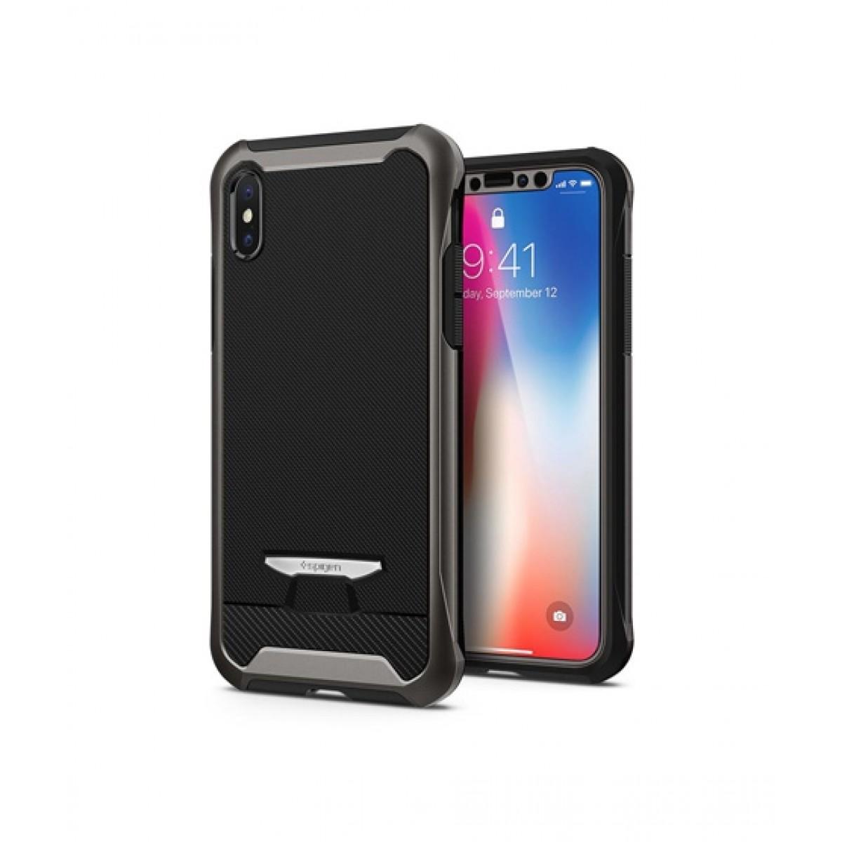 info for 59f29 fbb6c Spigen Reventon Gunmetal Case For iPhone X/XS