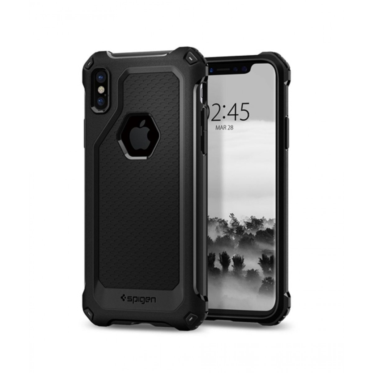 new product a0c3c 1abe8 Spigen Rugged Armor Extra Black Case For iPhone X/XS