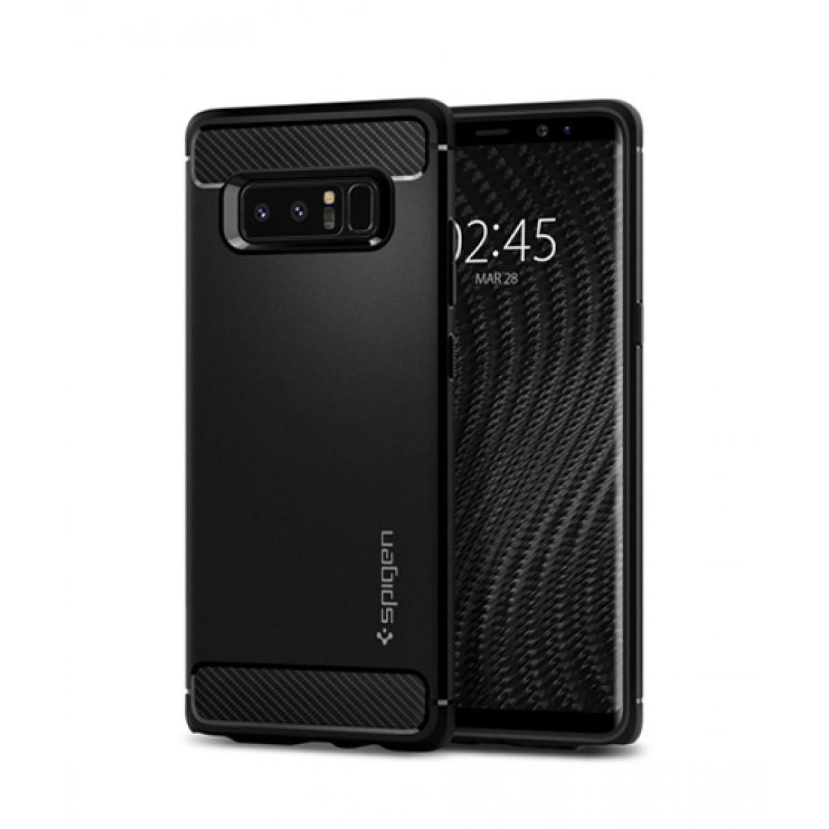 super popular 209f0 f246a Spigen Rugged Armor Matte Black Case For Galaxy Note 8