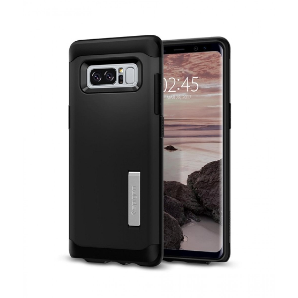 release date e58ee b5947 Spigen Slim Armor Black Case For Galaxy Note 8