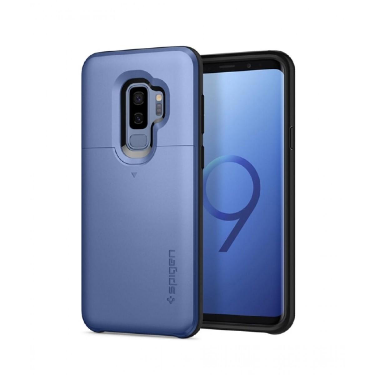 on sale 38f67 7d9a5 Spigen Slim Armor CS Coral Blue Case For Galaxy S9+