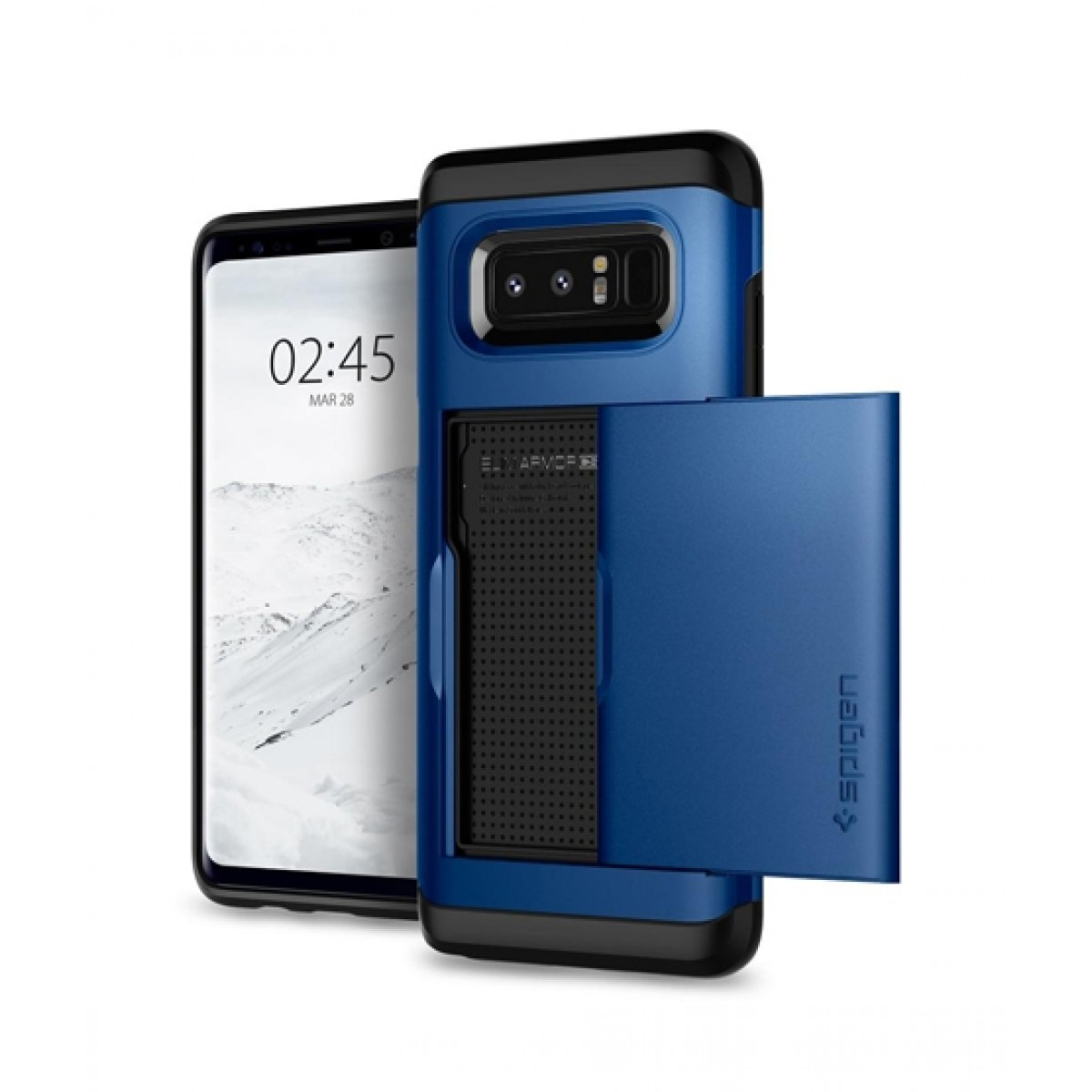low priced f45e9 98143 Spigen Slim Armor CS Deep Sea Blue Case For Galaxy Note 8