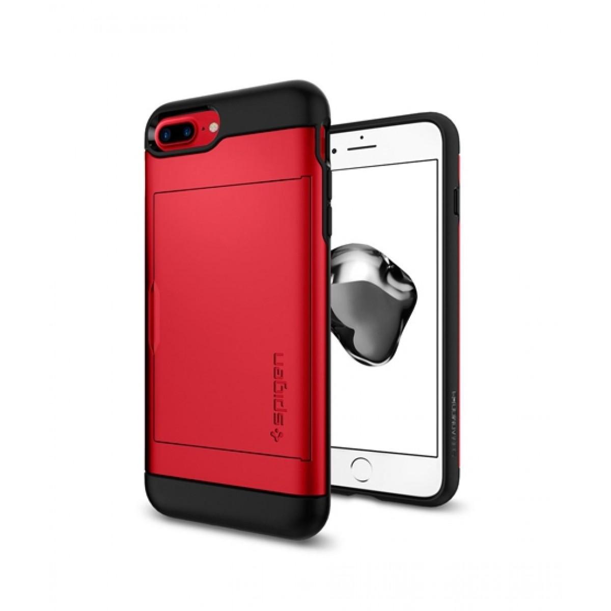 hot sale online 3d4db 8f80f Spigen Slim Armor CS Red Case For iPhone 8 Plus