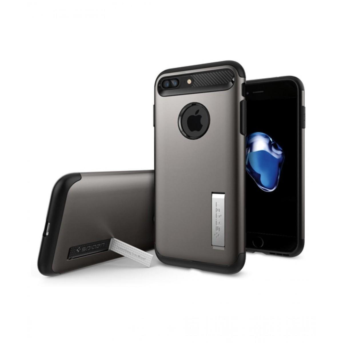 competitive price 0798a d09a8 Spigen Slim Armor Gunmetal Case For iPhone 8 Plus