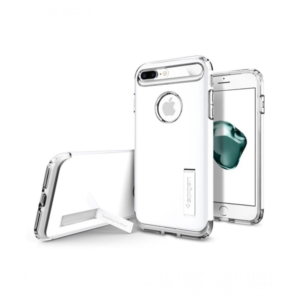 Spigen Slim Armor Jet White Case For iPhone 8 Plus