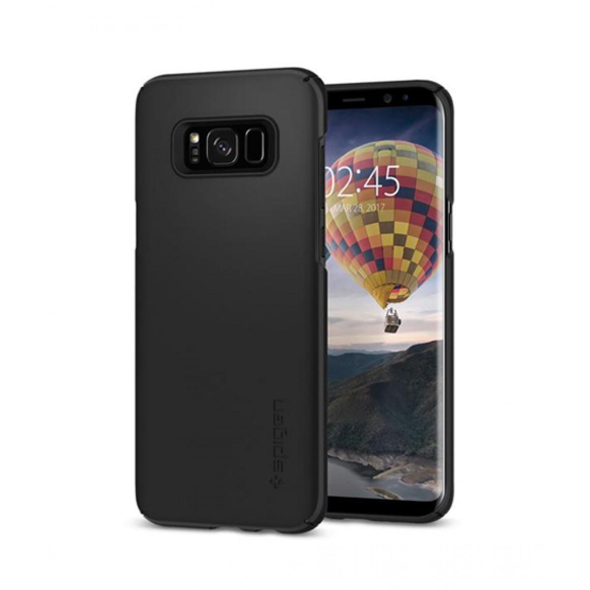 brand new 90282 db7f4 Spigen Thin Fit Black Case For Galaxy S8