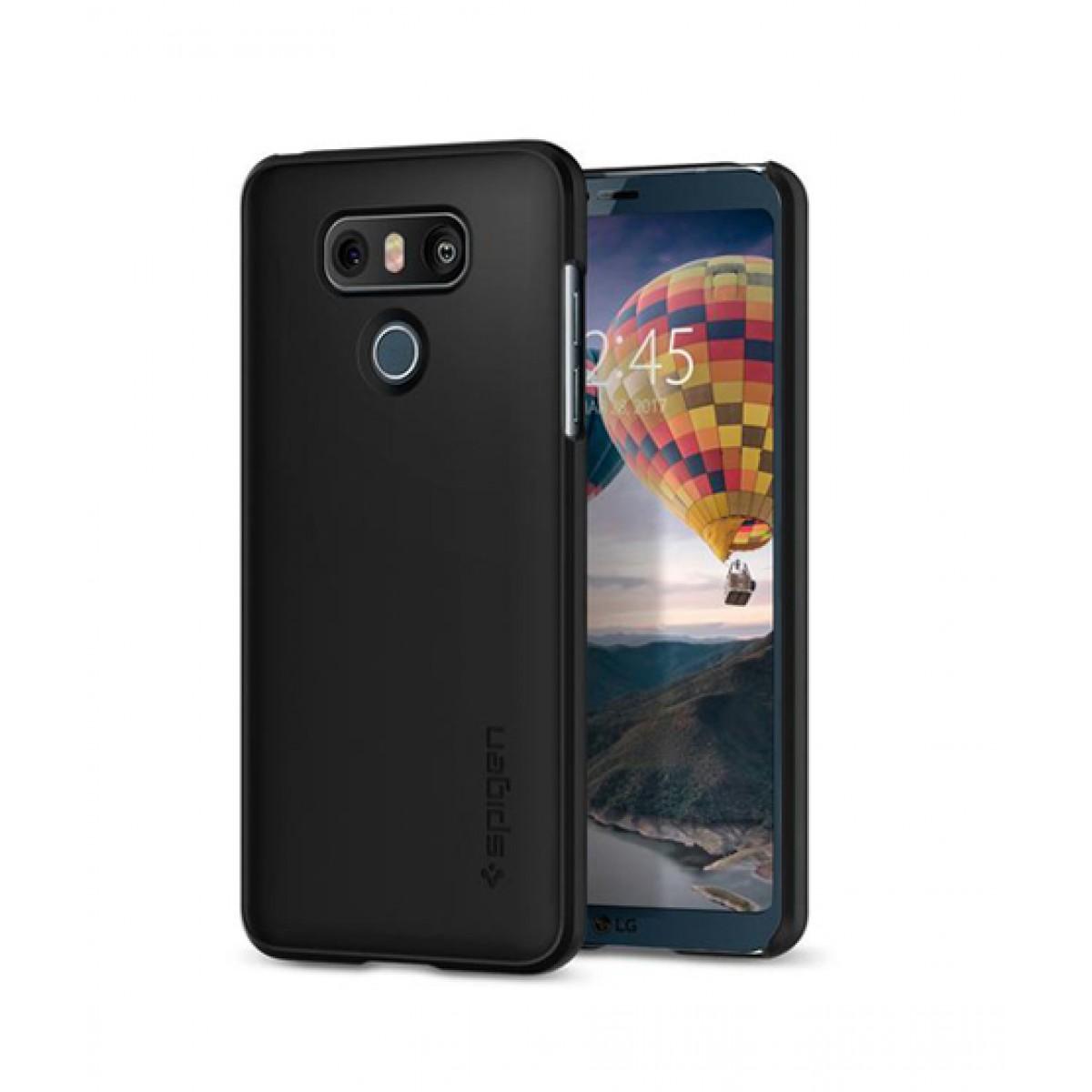 pretty nice 223c4 b2f73 Spigen Thin Fit Black Case For LG G6