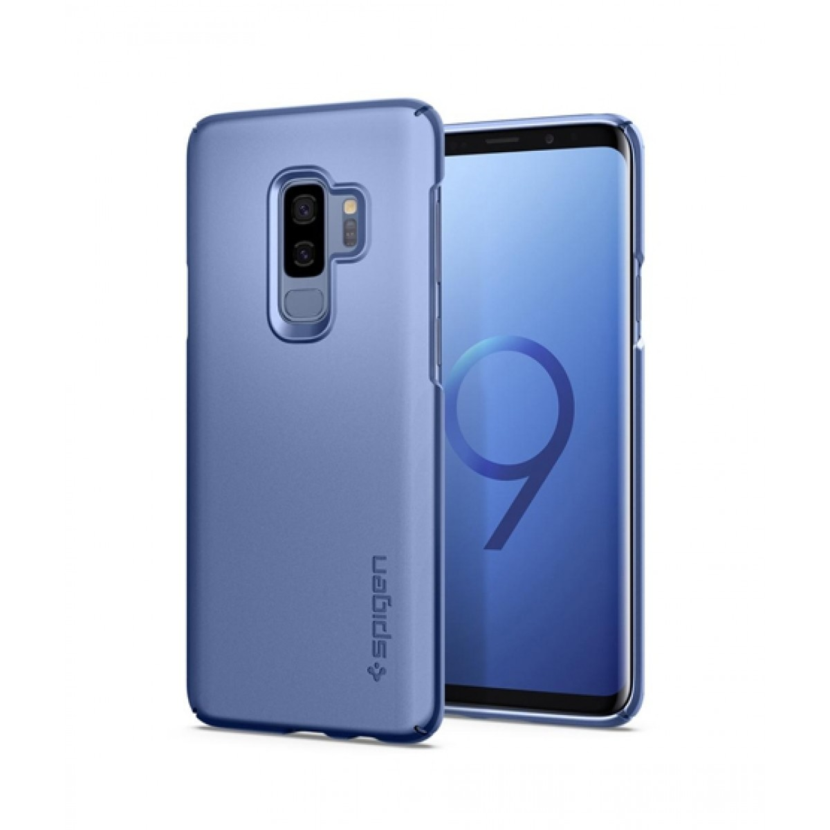 wholesale dealer 87e6a d6113 Spigen Thin Fit Coral Blue Case For Galaxy S9+