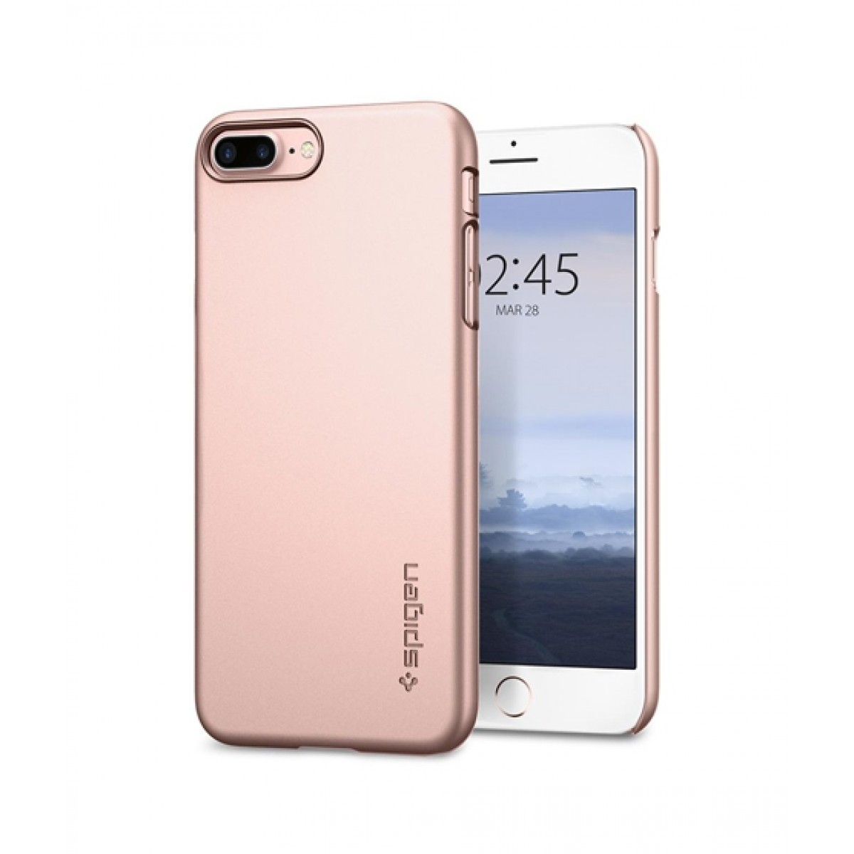 best loved e2041 910d8 Spigen Thin Fit Rose Gold Case For iPhone 8 Plus