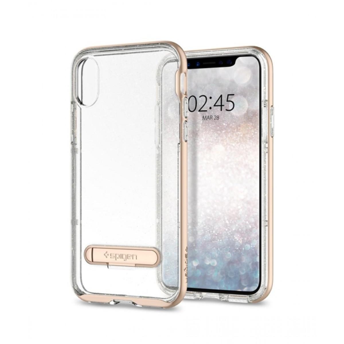 low priced c1cc1 ccdd1 Spigen Crystal Hybrid Glitter Gold Quartz Case For iPhone X/XS