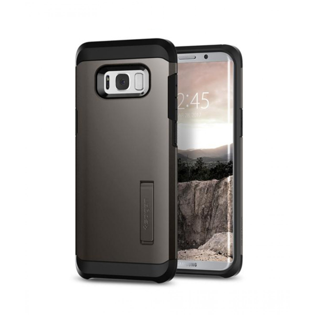 Spigen Tough Armor Gunmetal Case For Galaxy S8+