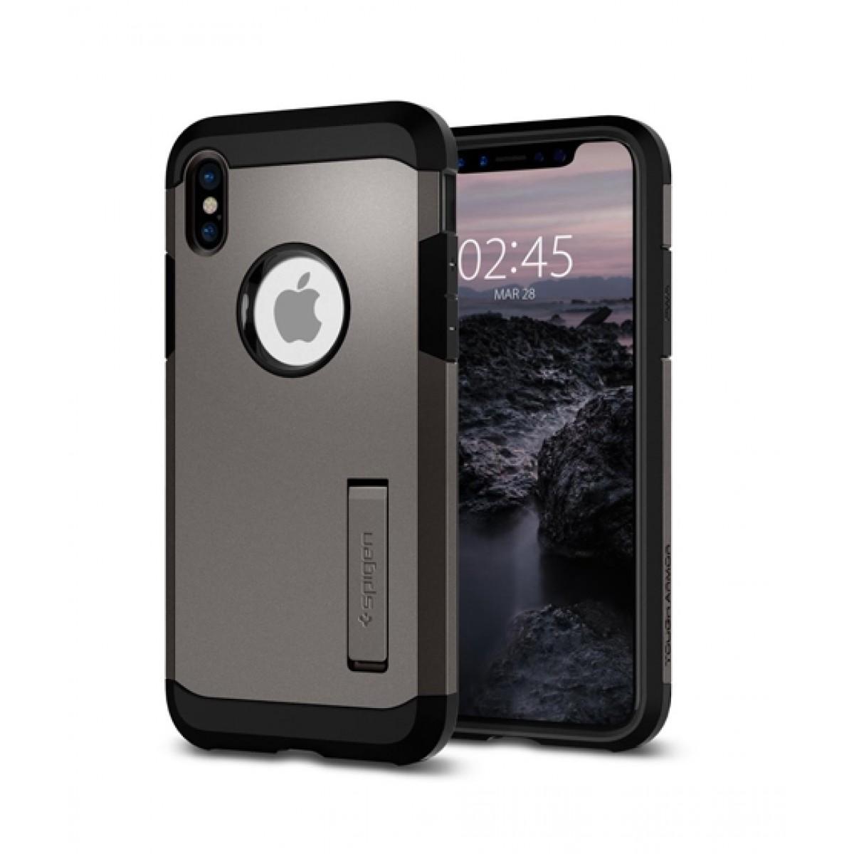 wholesale dealer ced8c 407ff Spigen Tough Armor Gunmetal Case For iPhone X/XS