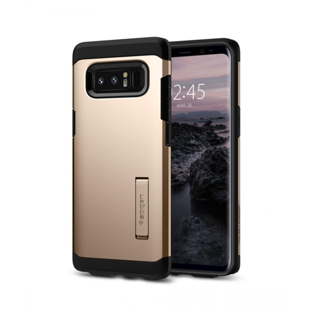 innovative design 030d4 880dd Spigen Tough Armor Maple Gold Case For Galaxy Note 8