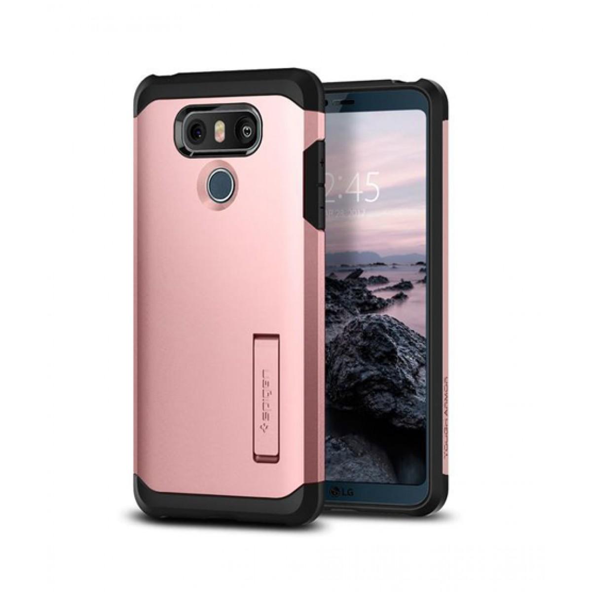 hot sale online 101e4 7322f Spigen Tough Armor Rose Gold Case For LG G6
