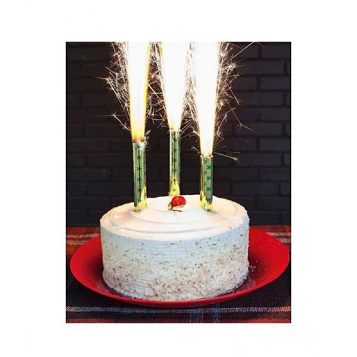 SubKuch Birthday Sparkling Candle Pack Of 6