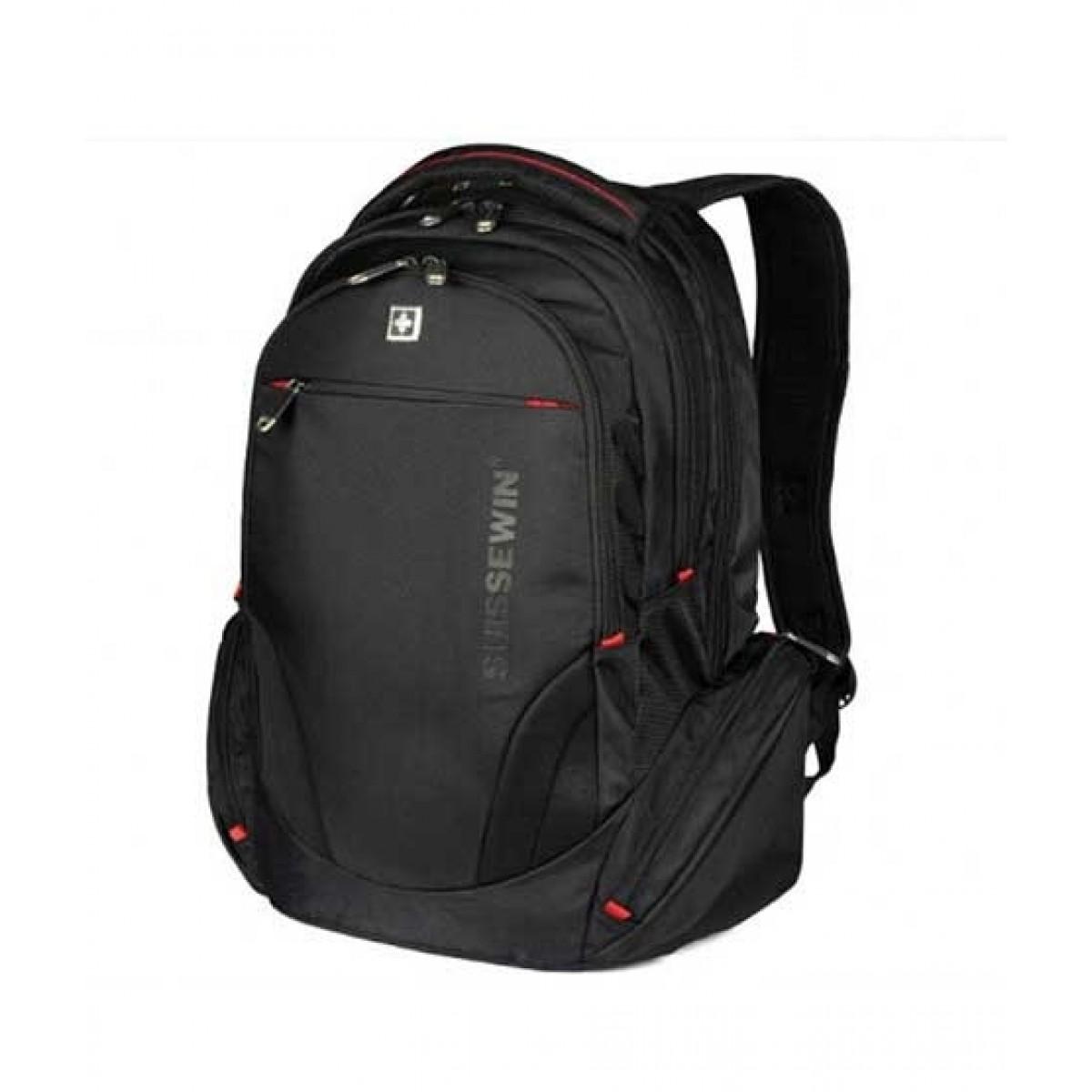 """Suissewin 15.6"""" Laptop Backpack Black (SN8118)"""