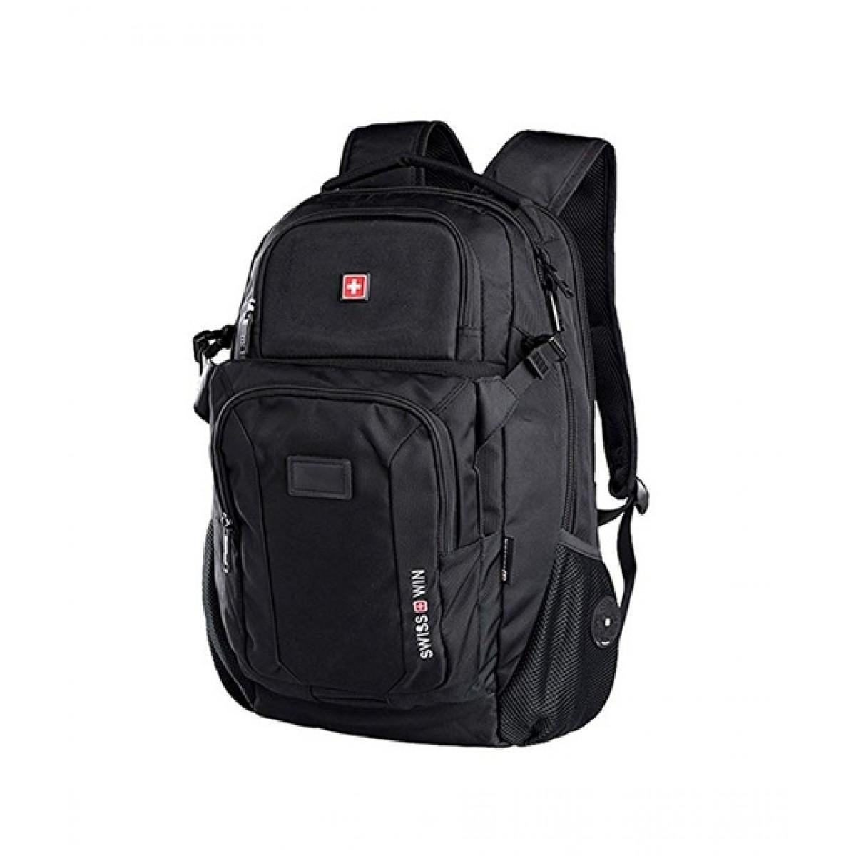 Swisswin Outdoor Travel Backpack Black (SW9101)