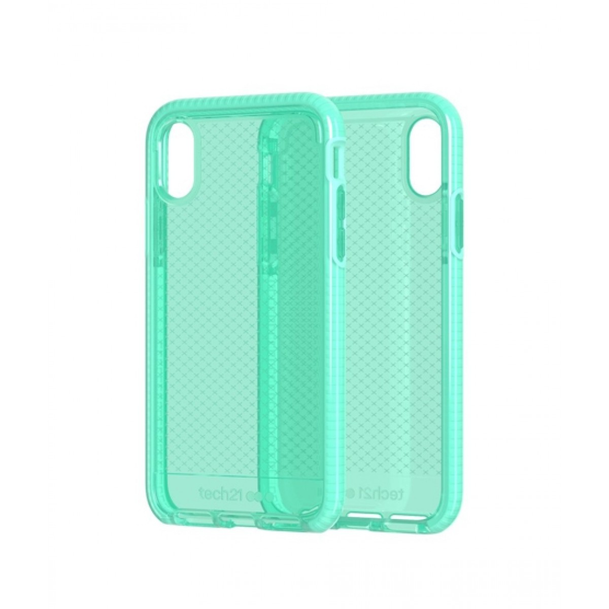 new products 7d97a 37f35 Tech21 Evo Check Neon Aqua Case For iPhone XR