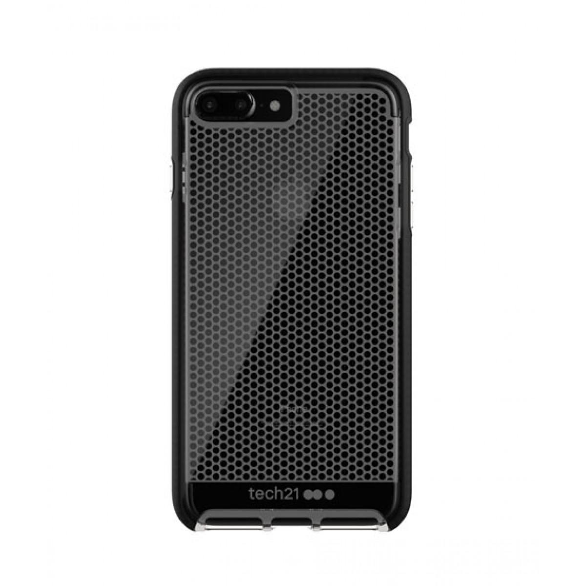 timeless design e20bb dbc75 Tech21 Evo Mesh Clear/Black Case For iPhone 8 Plus