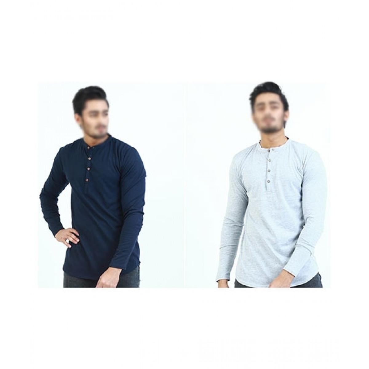 The Smart Shop Full Sleeves T-Shirt For Men Pack Of 2 (0853)