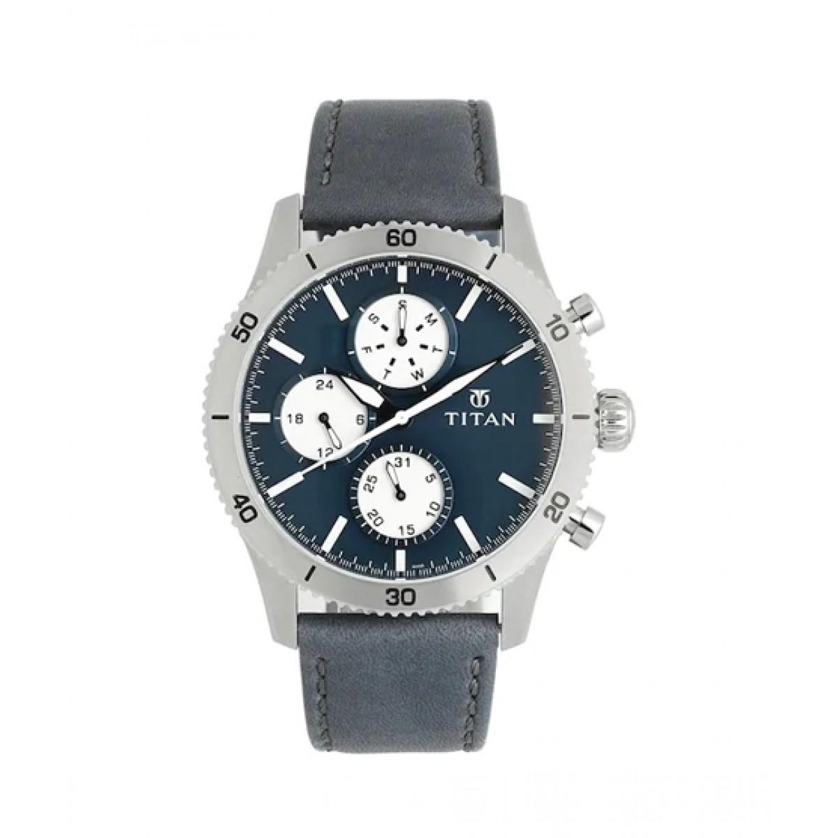 Titan Analog Men's Watch Blue (90105KL02)