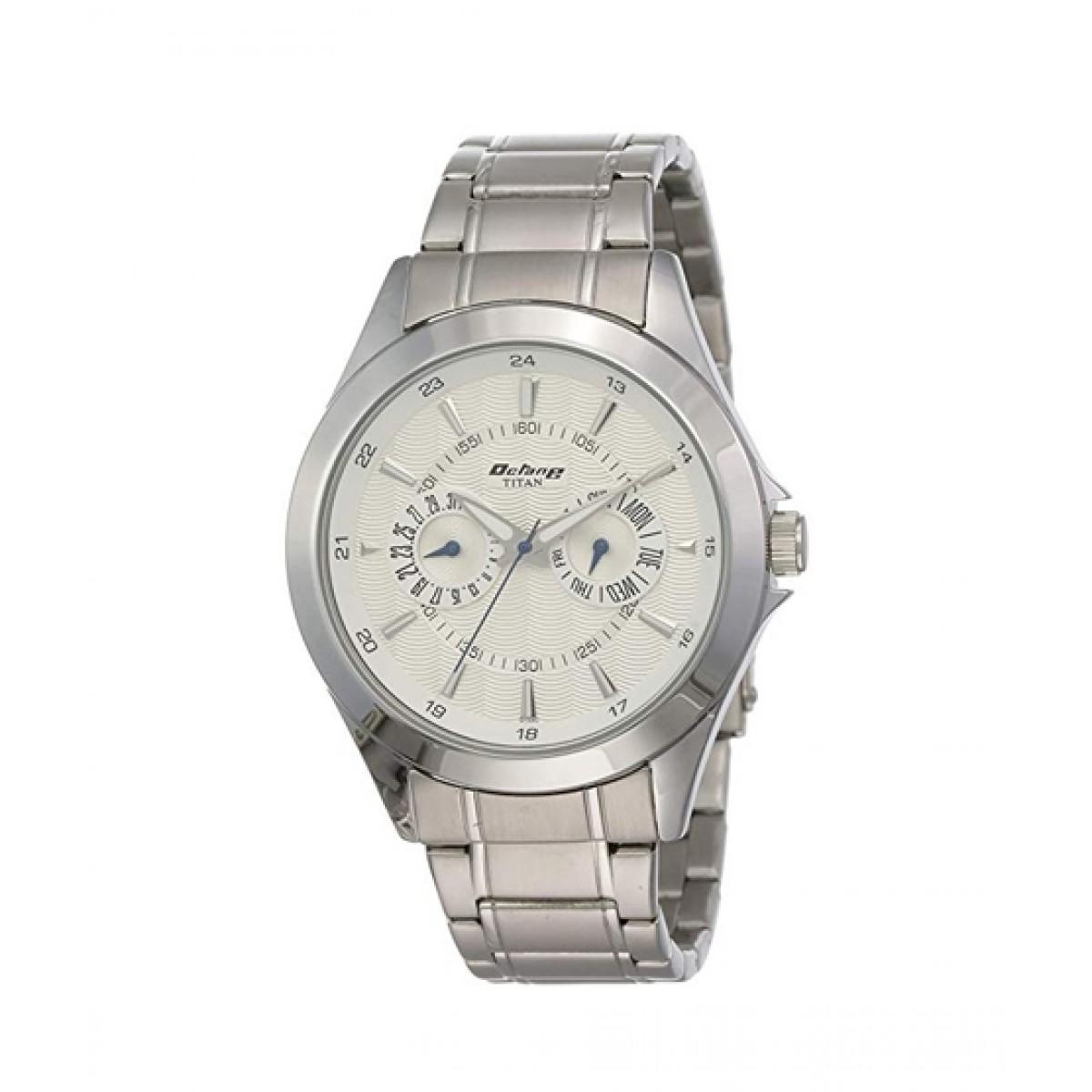 Titan Analog Men's Watch Silver (9323SM01)