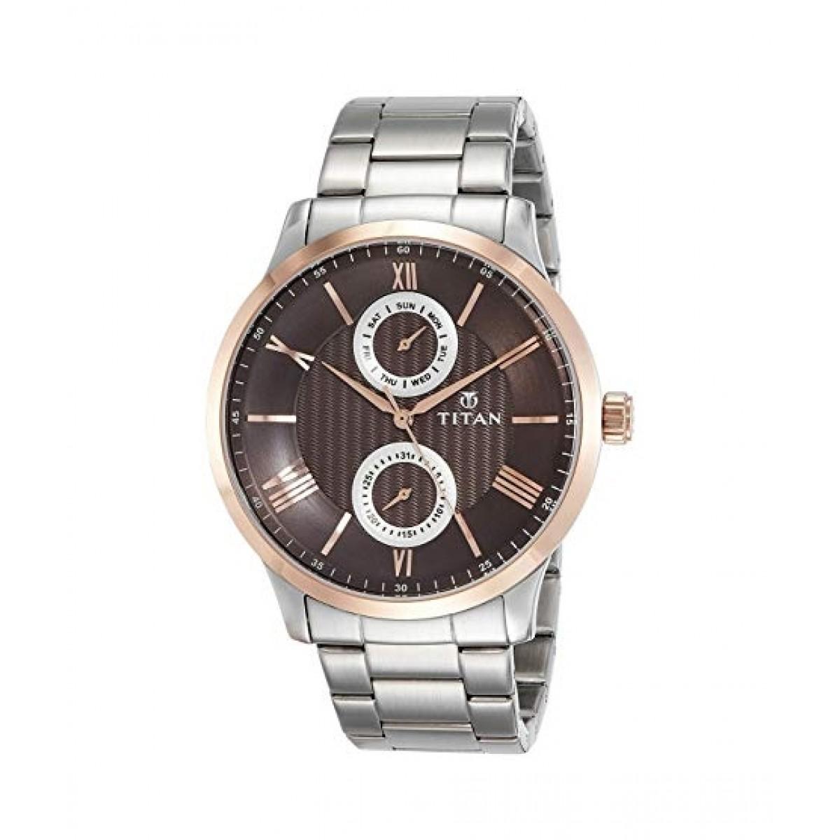 Titan Classique Men's Watch Silver (90100KM01)