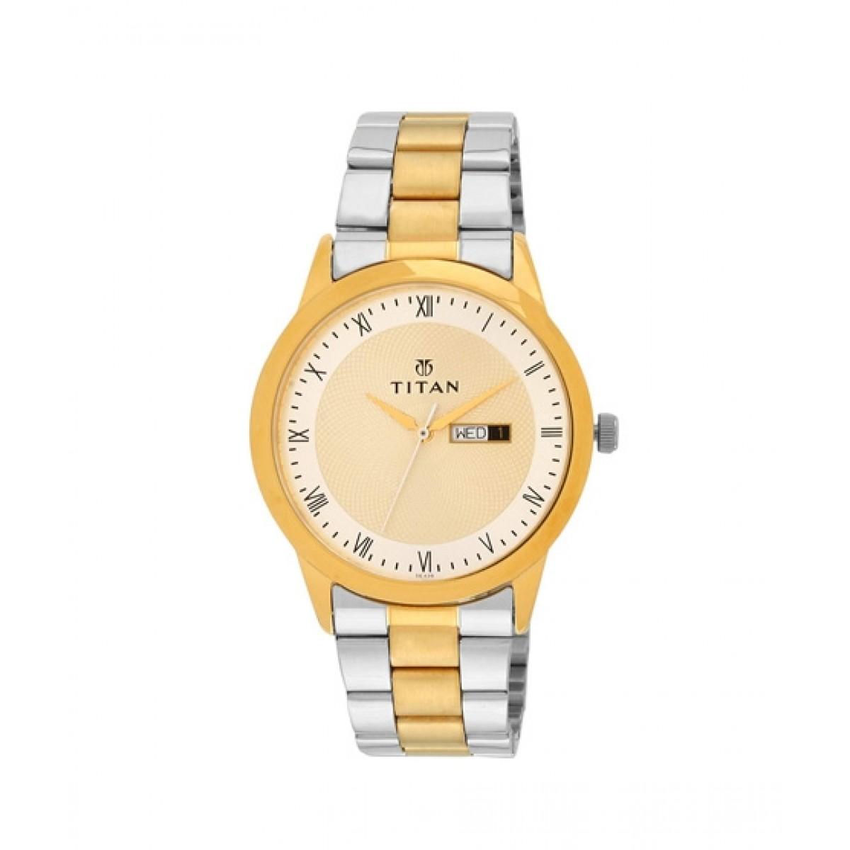Titan Men's Watch Two Tone (1584BM02)