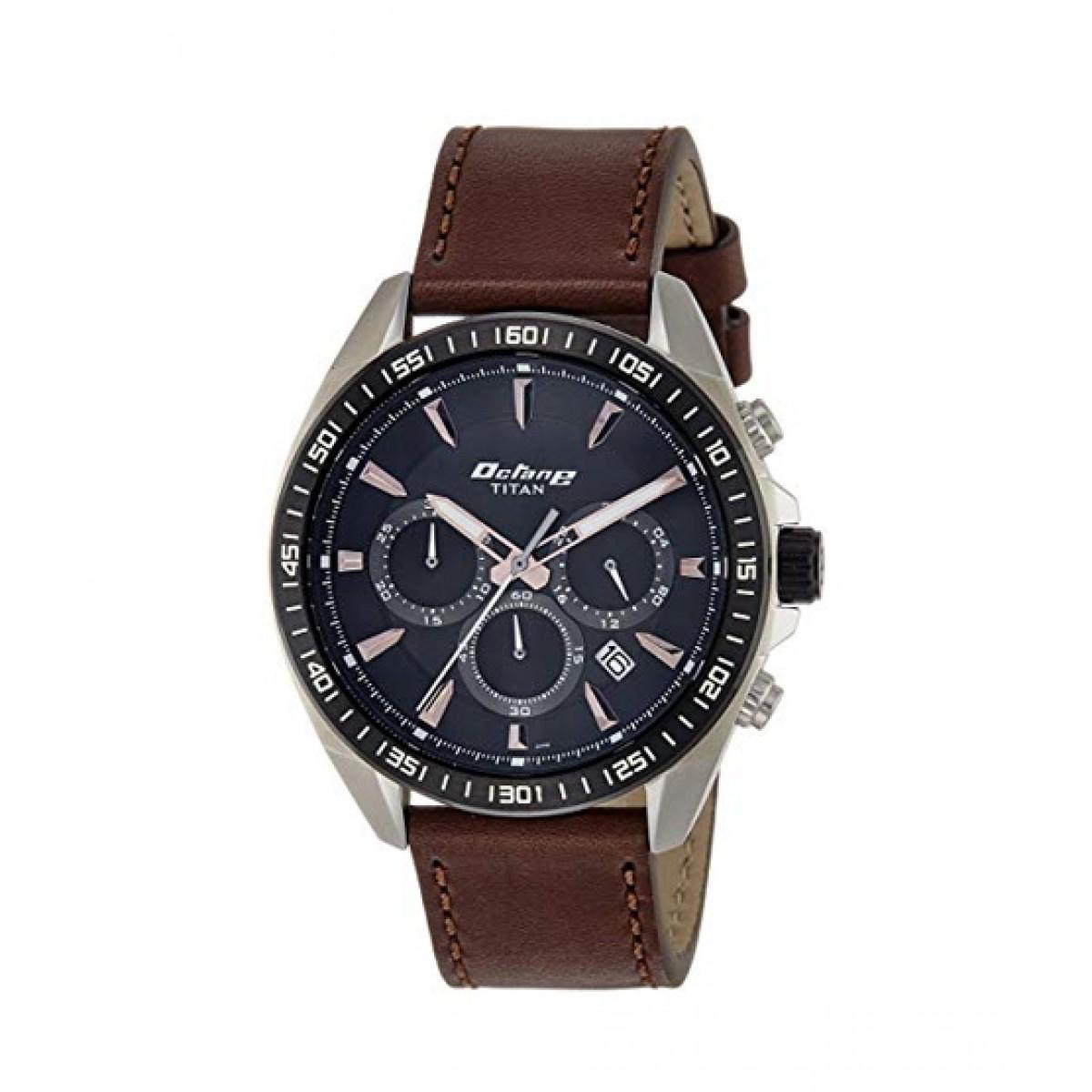 Titan Octane Men's Watch Brown (90103KL01)