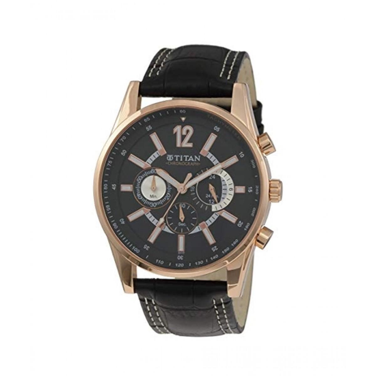 Titan Octane Men's Watch Black (9322WL02)