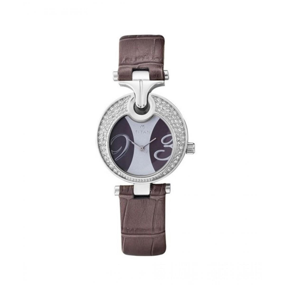 Titan Purple Analog Women's Watch Brown (9773SL02)