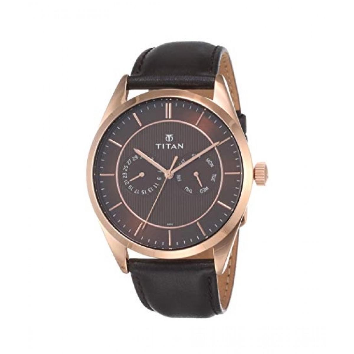 Titan Slimline Men's Watch Black (90098WL01)