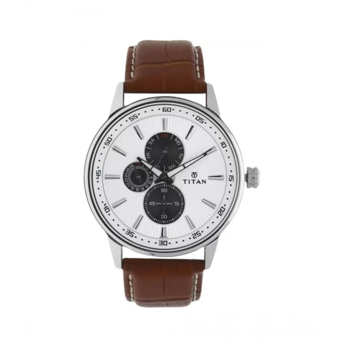 Titan Smart Steel Men's Watch Brown (9441SL01)