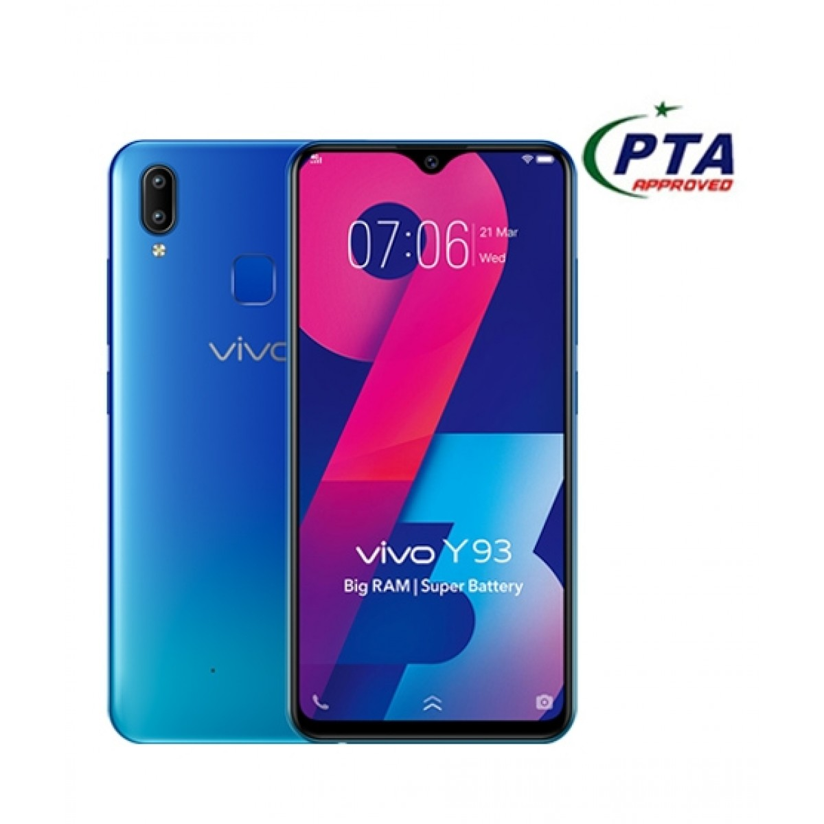 Vivo Y93 32GB Dual SIM Ocean Blue - Official Warranty