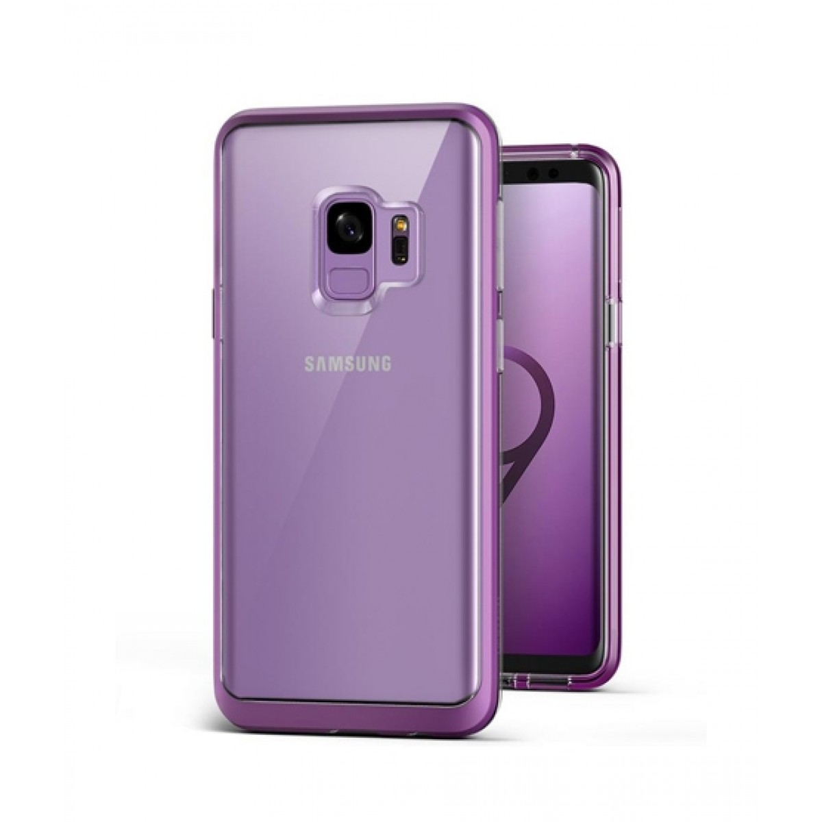 newest aa104 ea2bb VRS Design Crystal Bumper Series Lilac Purple Case For Galaxy S9