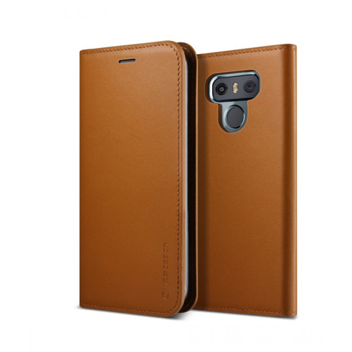 best value 14886 35a4e VRS Design Genuine Leather Diary Brown Case For LG G6