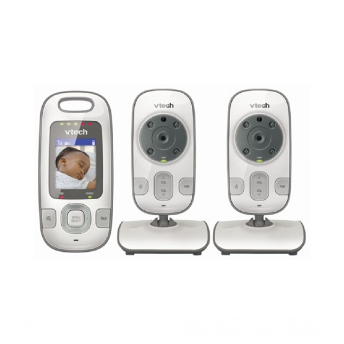 VTech Baby Video Monitor With 2-Cameras White/Silver (VM312-2)