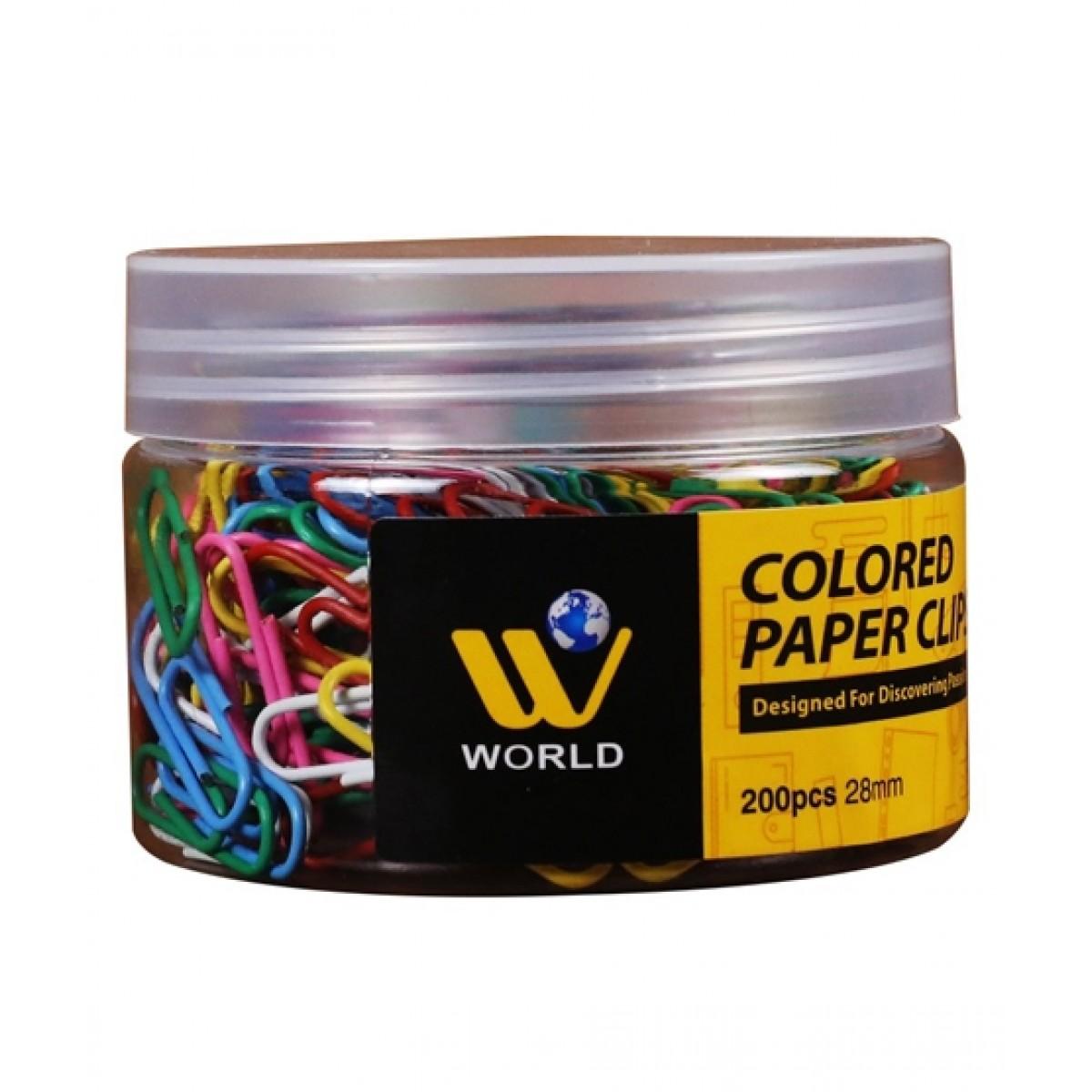 WBM World Colored Paper Clip - 200 Pcs