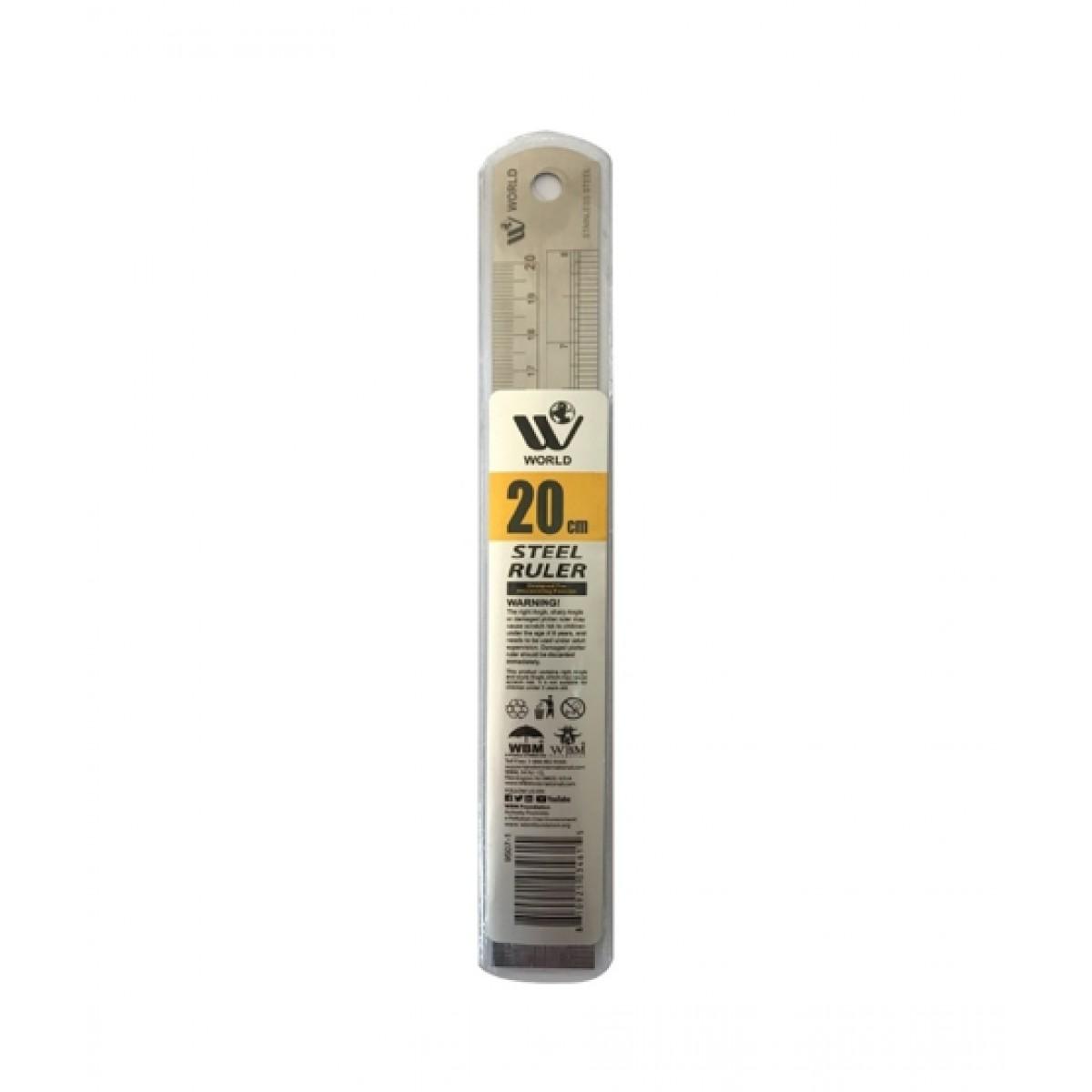 WBM World Steel Ruler 20cm