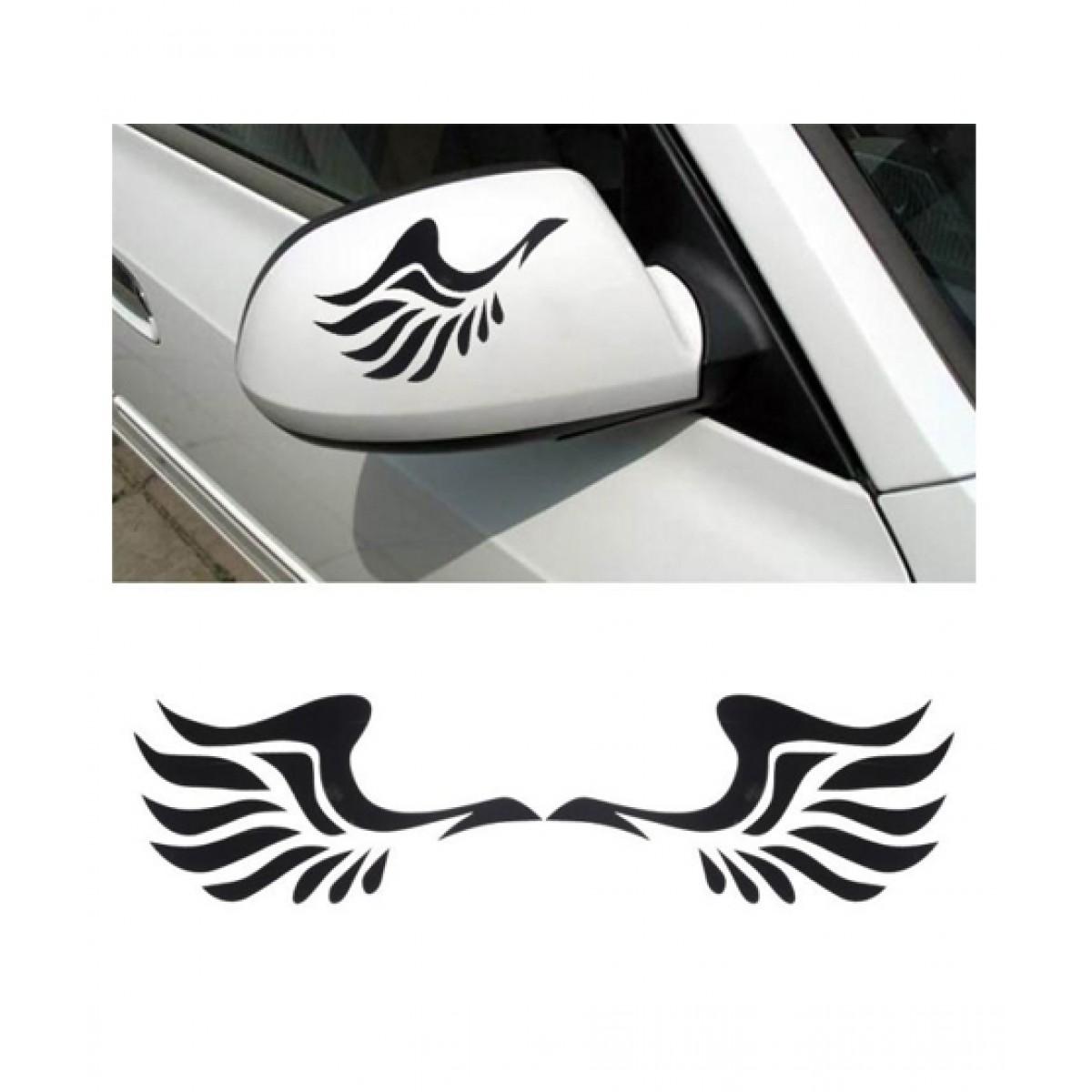 Wish hub mirror pair of wings car sticker price in pakistan buy wish hub mirror car sticker black ishopping pk