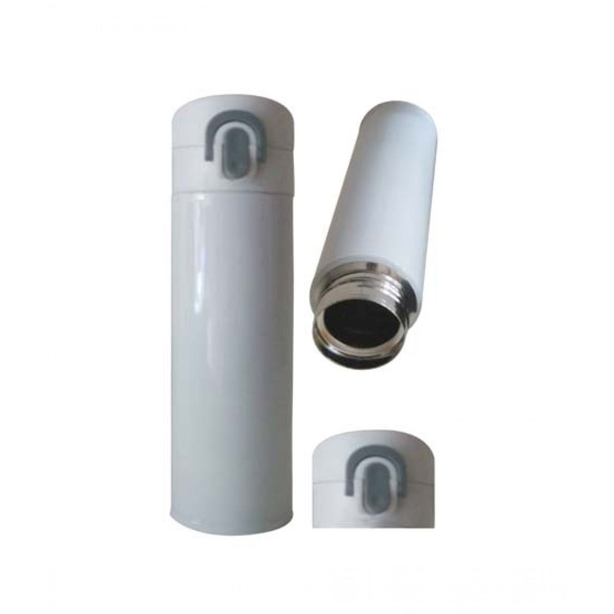 World of Promotion Stainless Steel Vacum water Bottle White (500ML)