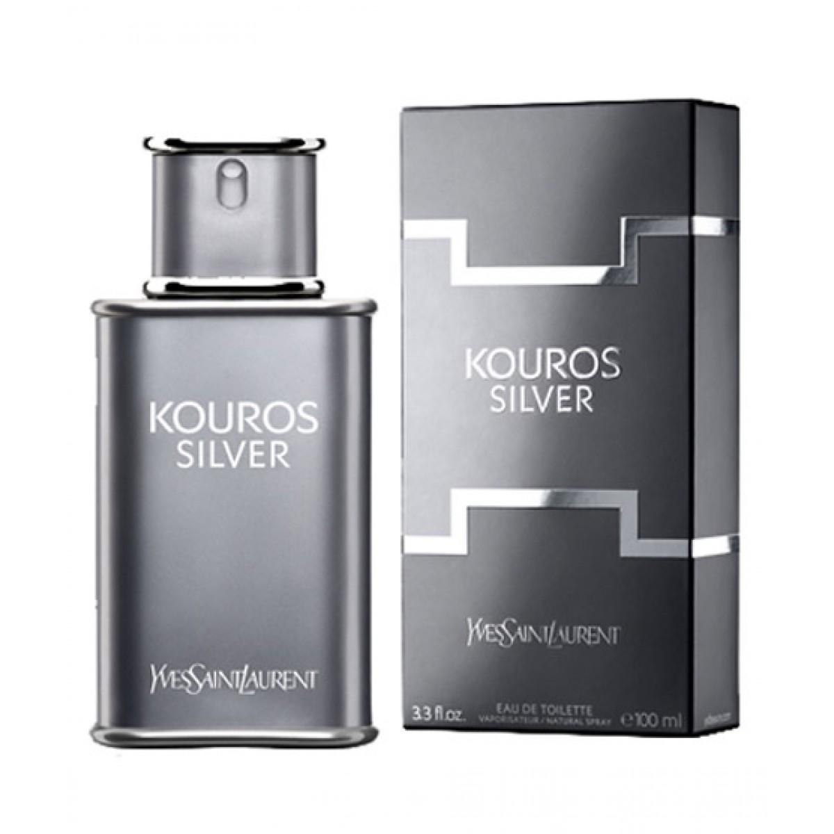 Eau De Silver Saint Parfum Kouros Men Yves 100ml Laurent For rBWdCoxe