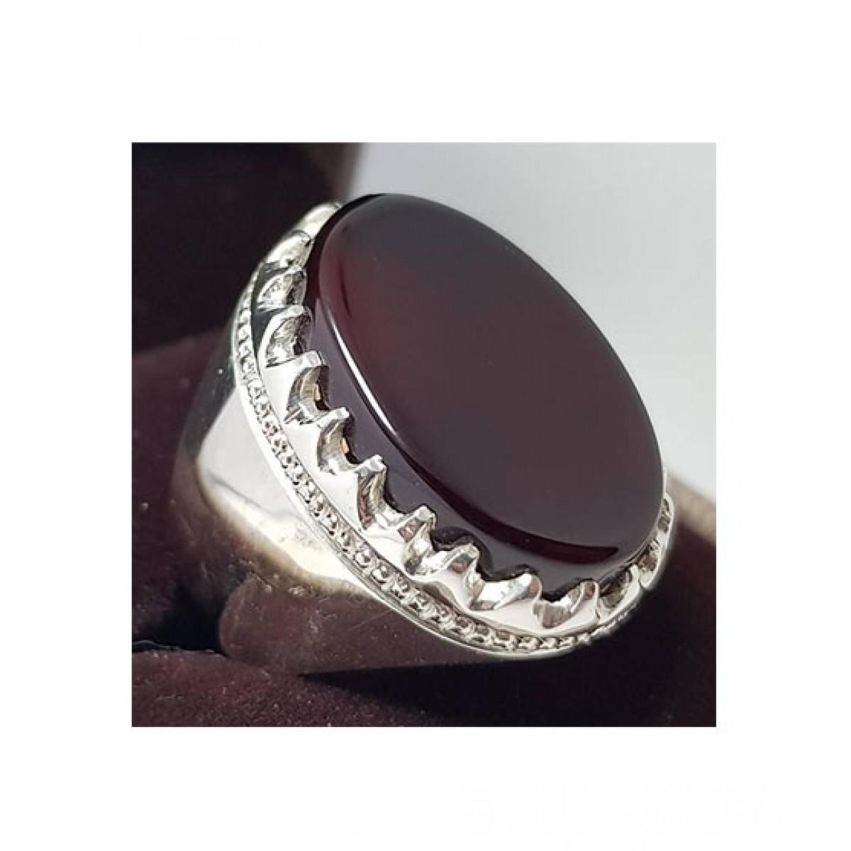 Zaidi Jewelry Yemeni Aqeeq Ring For Men (0002)