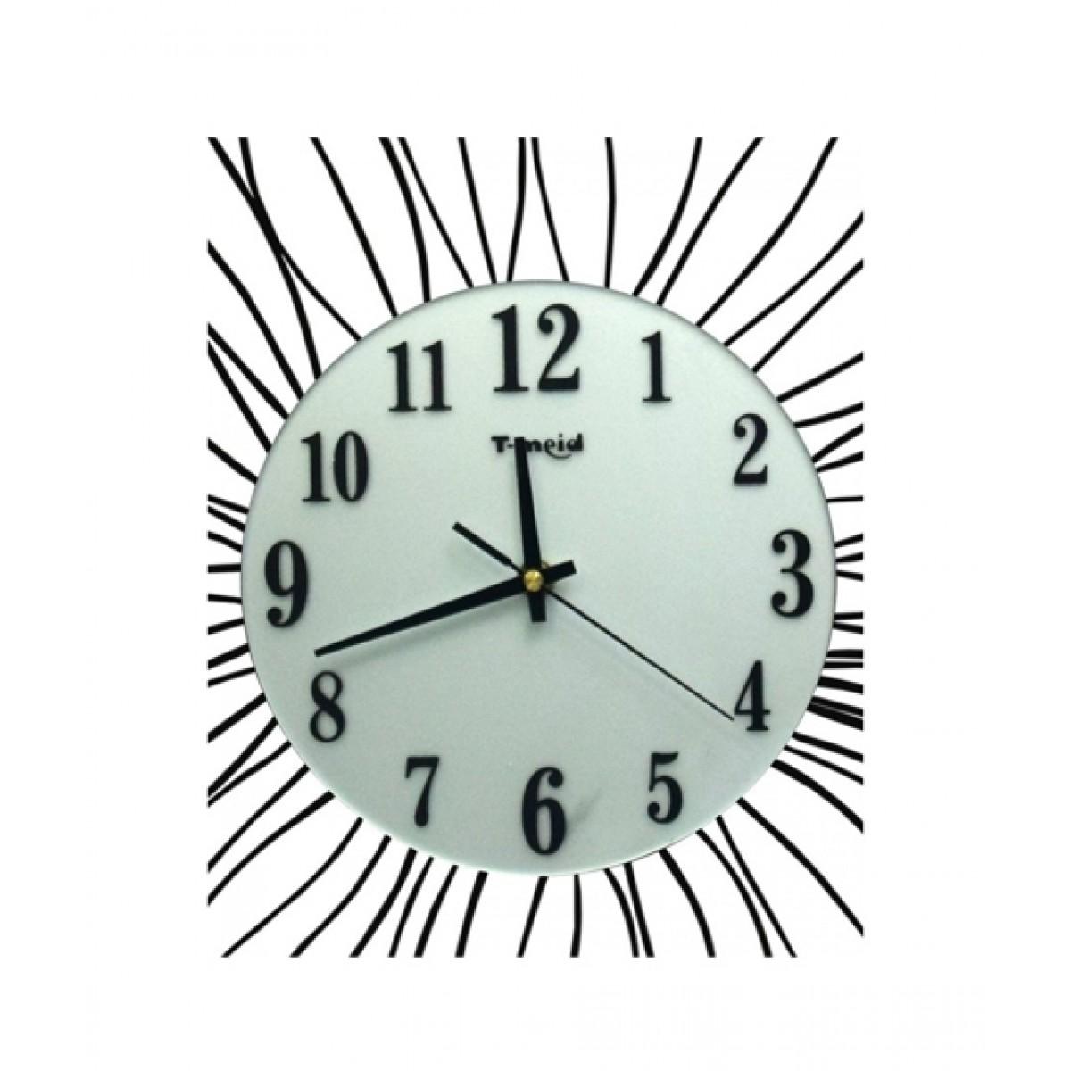 Zapple Diamante Spiral Wall Clock Silver And Black