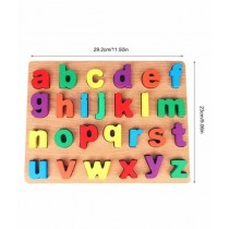 Planet X ABC Small Alphabets Thick Wooden 3D Board Puzzle (PX-10507)