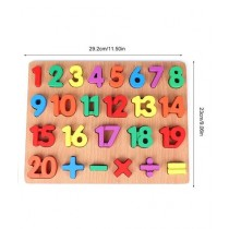 123 Numbers Thick Wooden 3D Board Puzzle (PX-10508)