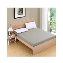 B&B Collections King Size Bed Sheet Light Gray