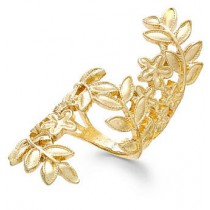 Bar III Gold-Tone Vine Floral Ring