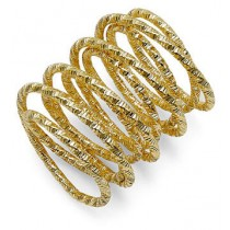 Bar III Gold-Tone Hammered Coil Ring